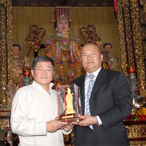 台灣立法委員林炳坤訪天后宮
